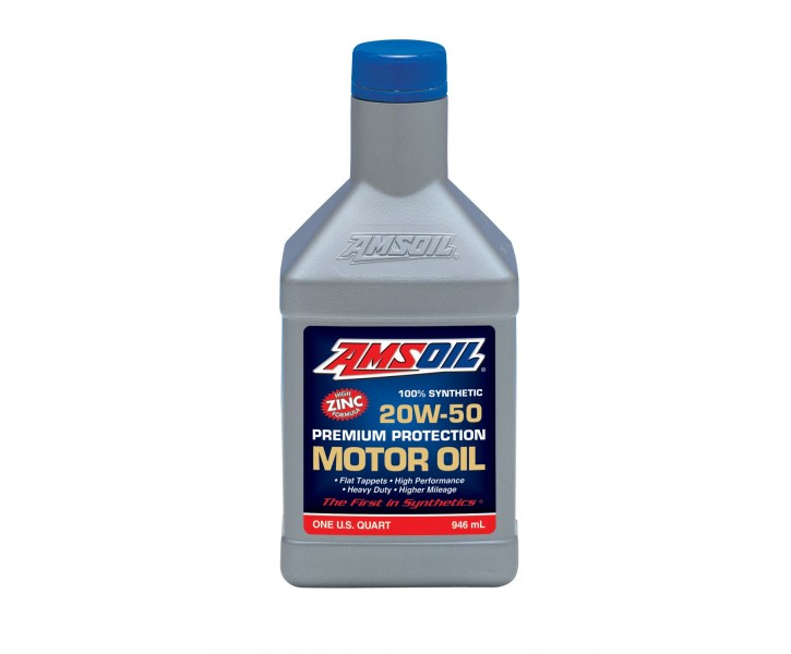 Amsoil Synthetic 20W50 High Zinc Oil Premium Protect