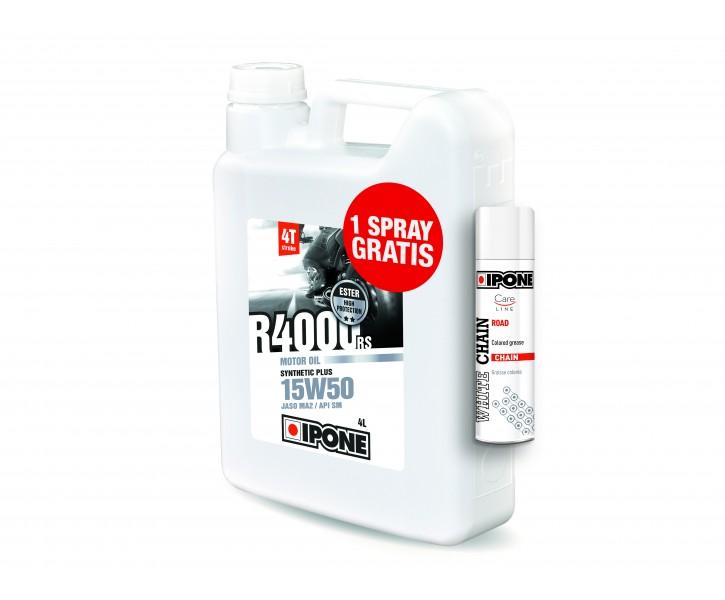 IPONE R4000 15W50 + WHITE CHAIN