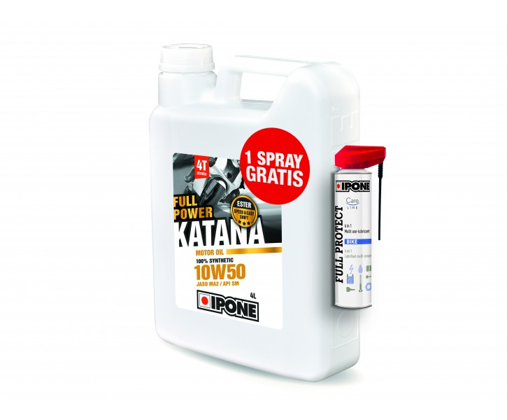 Ipone PACK Katana 10W50 + Spray Full Protect
