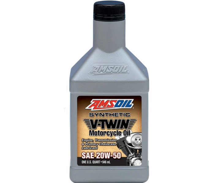 Amsoil Synthetic V-Twin 20W50 Motorcycle Oil