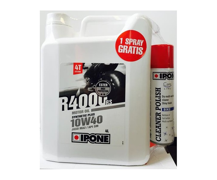 Ipone Pack R4000 RS 10W40 + Polish